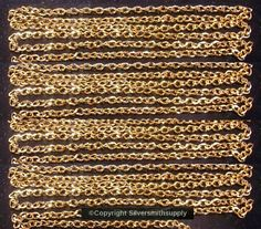 12' Gold plated flat oval twist 6x4mm bulk large cable link necklace chain ch118 #Silversmithsupply