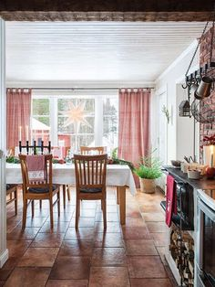Scandinavian christmas kitchen