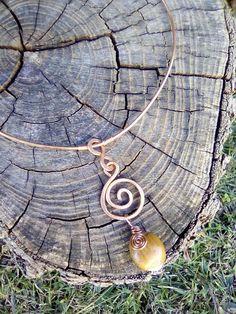 Hazelnut Spiral Necklace COPPER