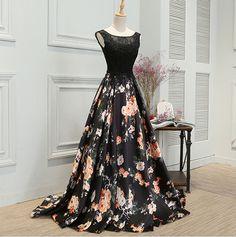 Stylish A line lace long prom dress,evening dress,formal dresses