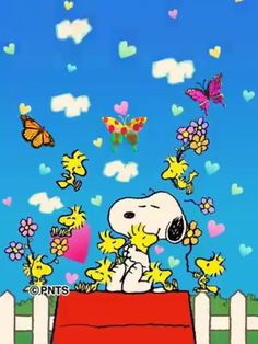 Love in your heart - Lachen Good Morning Snoopy, Good Morning Happy Friday, Cute Good Morning Quotes, Happy Sunday Quotes, Snoopy Song, Snoopy Happy Dance, Snoopy Quotes, Snoopy Images, Snoopy Pictures
