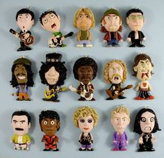 Paul Mcartney, Billie JOE, Kurt, Vasco Rossi, Bono VOX, BOB, Slash, Jim Hendrix, James Hetfield, Mike Jagger, Freddie Mercury, MJ, Madonna, Bowie,      OZZY