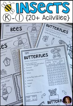Insect Activities} for Kindergarten. Are you looking for a factual unit to introduce insects in your kindergarten and first grade classroom? Our insect unit is just what you need! Alphabet Activities Kindergarten, Kindergarten Rocks, First Grade Activities, Preschool Printables, Teaching Science, Kindergarten Classroom, Kindergarten Activities, Classroom Tools, Literacy