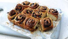 The secret to this sweet teatime treat is the soft, rich, buttery dough. Cinnamon Bun Recipe, Cinnamon Rolls, Tofu, Chelsea Bun, Curry, Roasting Tins, Hot Cross Buns, The Fresh, Food Videos