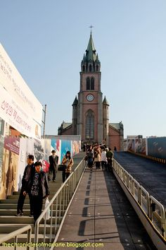 Myeongdong Cathedral: Most people would never ever forever think about a cathedral in South Korea! But, located in the heart of Myeong-dong (one of Korea's biggest shopping districts in Seoul), lies this beautiful Gothic cathedral. @whatsupseoul   whatsupseoul.com