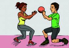35 Partner Exercises: Resistance tubing, medicine balls, BOSU balls, and bodyweight