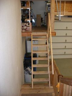 Diy the best loft ladder type that i 39 ve built was using for Diy garage storage loft