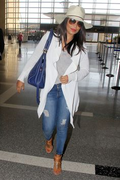 Sanaa Lathan looked all types of gorgeous as spotted at LAX in Los Angeles. Yes skin!