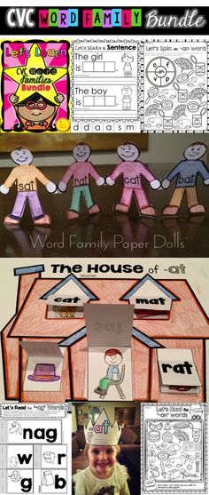 Teach your students all about word families with this easy to use fun and interactive printables collection! Over 450 pages of activities and printables are included that will provide a comprehensive program for teaching CVC words. Each word family package within the bundle has a wonderful variety of activities to suit your classroom and allow for differentiation. $