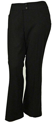 Jones New York Womens Charlotte Fit Dress Trouser Pants  Black 14W * See this great product.