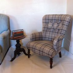Button Back Ocassional Armchair Laura Ashley Keynes Midnight Wingback Chair, Armchair, Reading Room, Laura Ashley, Playroom, Coupons, Kitchen Ideas, Accent Chairs, Decor Ideas