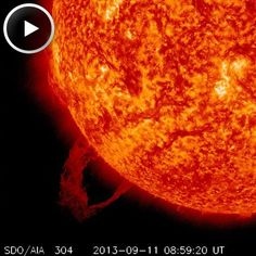 SOUTHEAST ERUPTION: Solar activity is low, but not zero. a magnetic filament snaking around the sun's southeastern limb rose up and erupted. NASA's Solar Dynamics Observatory recorded the action in a movie which spans hours: Solar Activity, Meteor Shower, Space And Astronomy, 5 Hours, Solar System, Action, Movie, Sun, Activities