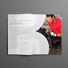 """Brochure Layout Design {love how the """"B"""" element is incorporated} // Sahlberg by Alexander Hauptkorn"""