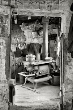 "April 1936. ""Interior of rehabilitation client's house. Jackson, Ohio."" 35mm negative by Theodor Jung for the Farm Security Administration. View full size."