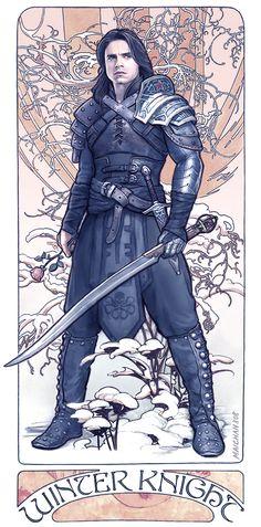maichan-art.deviantart.com Bucky Barnes the Winter Soldier - Winter Knight