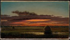 Sunset over the Marshes | Museum of Fine Arts, Boston