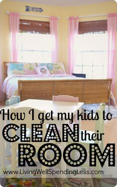 How I get my kids to clean their room--winning the battle of the tidy room. #kids #cleaning #organizing