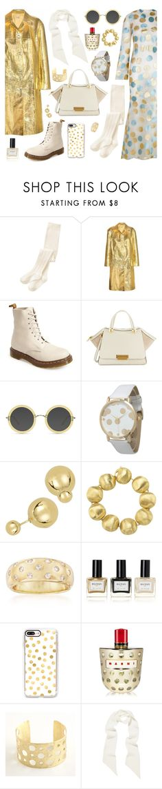 """Psychedelic Gold"" by inspiredsara ❤ liked on Polyvore featuring The 2nd Skin Co., Miu Miu, Dr. Martens, ZAC Zac Posen, Ace, Olivia Pratt, Marco Bicego, Ross-Simons, Balmain and Casetify"