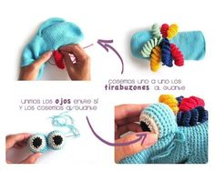 Marioneta amigurumi – Crochet DIY Tutorial showing step by step how to knit an Amigurumi doll – Crochet DIY Octopus Crochet Pattern, Crochet Patterns Amigurumi, Hand Puppets, Finger Puppets, Knitted Hats, Crochet Hats, Puppet Patterns, Crochet Diy, Amigurumi Toys