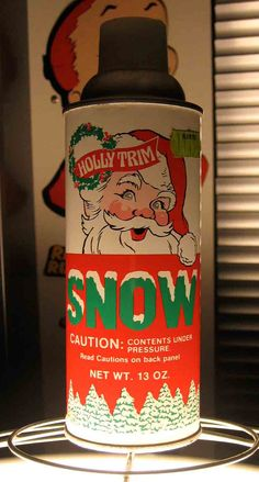 Spray Snow--when I was growing up, alot of our Christmas decorations were sprayed with this, so whenever you opened your boxes to decorate, you could always smell this. Holiday Cards, Christmas Cards, Christmas Decorations, Christmas Tree, Vintage Christmas Images, St Louis Mo, Vintage Packaging, I Remember When, Oldies But Goodies