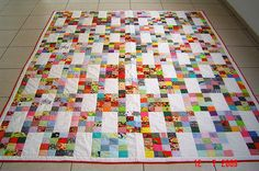 Leaders and Enders – 2 Quilts in the Time of 1 – justabitfrayed Feita pela minha mãe This quilt was made by my mother. After receiving this marvelous gift, I had no choice. I started sewing too. Okay, so maybe not exactly 2 for the time of But, so fa Purl Bee, 16 Patch Quilt, Quilt Blocks, Scrappy Quilts, Easy Quilts, Jellyroll Quilts, Quilting Projects, Quilting Designs, Quilting Ideas