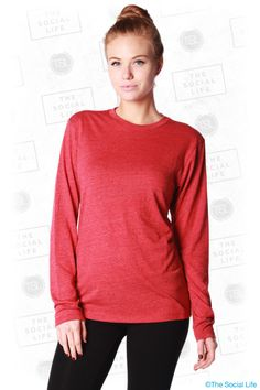 District - Textured Long Sleeve Tee Save your look from boredom with a textured tee.