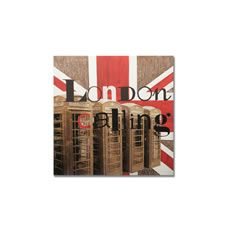 Graham & Brown Handpainted London Calling Printed Canvas Art - 28 X 28 - Hand Painted Canvas, Diy Canvas, Canvas Art, Canvas Ideas, Cheap Wallpaper, Contemporary Wall Art, House Of Fraser, London Calling