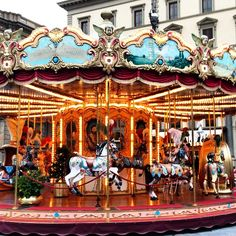 An Apple A Day:  carousel in Florence, Italy