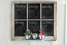 DIY Chalkboard Planner