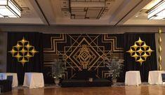 Art Deco Gold Lounge Balloons {Life O' The Party} - www.mazelmoments.com/blog/19023/lounge-club-nightclub-theme-ideas-bar-bat-mitzvah-party-sweet-16/