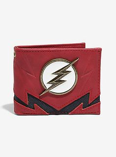 DC Comics The Flash Contrast Bi-Fold Wallet - BoxLunch Exclusive, , hi-res The Flash Clothes, Dc Comics, Flash Wallpaper, Black Spiderman, The Flash Season, Novelty Bags, Super Hero Outfits, Supergirl And Flash, Disney And More