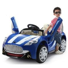 Cool Electric Kids Ride On Car with Opening Doors