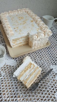 MarinaS Taste: Japanski vetar - My site Torte Recepti, Kolaci I Torte, Bosnian Recipes, Croatian Recipes, Albanian Recipes, Baking Recipes, Cookie Recipes, Dessert Recipes, Sweets Cake