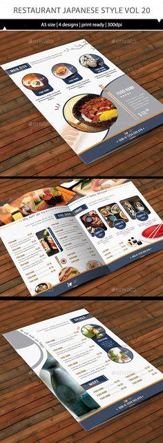 Restaurant Menu Vol 20 - Food Menus Print Templates