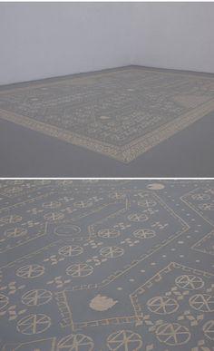 sand (sand!?!?) carpet by danielle van ark