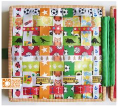 I wish I could read the tutorial, but I like the ideas for these quiet book pages.