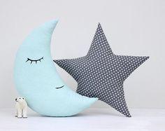 Moon Pillow Moon Cushion Kids Pillow Handmade by ProstoConcept