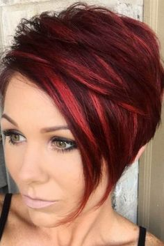 Short Red Hairstyles Ideas for 2020 Short Red Hair Color Ideas Hair Color Hairstyles for Short Red Hair, Short Hair Cuts, Short Hair Styles, Short Wavy, Black Hair, Hairstyles Haircuts, Pretty Hairstyles, Style Hairstyle, Unique Hairstyles