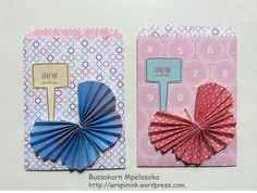 Mini treat bags, Stampin' Up! mini treat bag thinlits dies, From the Garden, Handpicked framelits dies, accordion butterflies