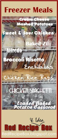 Red Recipe & Idea Box: Freezer Meals pinning this for the sweet and sour chicken recipe