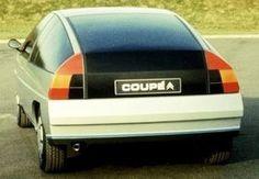Citroën Coupé, Based on the BX platform. Plaster model leaded by Carl Olsen and Dave O'Connell. Psa Peugeot Citroen, Citroen Car, Citroen Concept, Concept Cars, Space Car, Bike Trailer, Retro Cars, Car Girls, Dream Cars