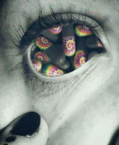 trippy drugs tie dye psychedelic edit by dixieee normous