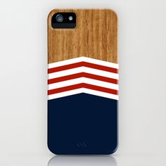 This iPhone case has a great vintage americana design. The wooden texture on the top is a nice touch and looks polished. The white and red stripes are repeated in sort of a chevron fashion which is less plain and boring than regular, horizontally-aligned stripes can be. They then contrast with the blue in a way that is reminiscent of the American flag, which many consumers will enjoy. I would like to design things that consumers can relate to that is also organized nicely.