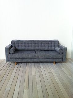 MADE to ORDER 1:12 dollhouse  miniature tufted sofa with bolster cushions