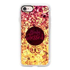 TRULY BLESSED Colorful Fine Art Bible Inspired Christian Faith... ($40) ❤ liked on Polyvore featuring accessories, tech accessories, iphone case, iphone cover case, purple iphone case, apple iphone case, floral iphone case and slim iphone case