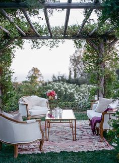 Cozy lounge furniture gives guests a place to gather and relax during cocktail hour | Brides.com