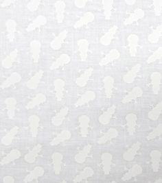 Christmas Cotton Fabric-Mini Snowmen White On White