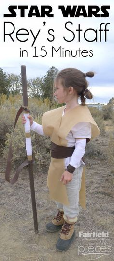 Rey's Staff and it only takes 15 minutes!  Great for a last minute Star Wars Costume - The Force Awakens