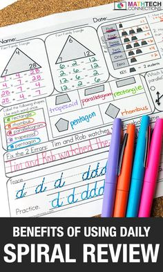 Use daily math spiral review in the elementary classroom to avoid test prep. These daily math worksheets review math, grammar and include cursive practice.   Available for grades 2-5.  #mathhomework #mathpractice #mathreview #spiralreview #2ndgrade #3rdgrade #4thgrade #5thgrade Math Worksheets, Math Activities, Spiral Math, Daily Math, Fact Families, Third Grade Math, Math Practices, Morning Work, Test Prep