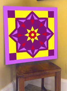 Custom 3' x 3' Barn Quilt Block Design - Egyptian Star